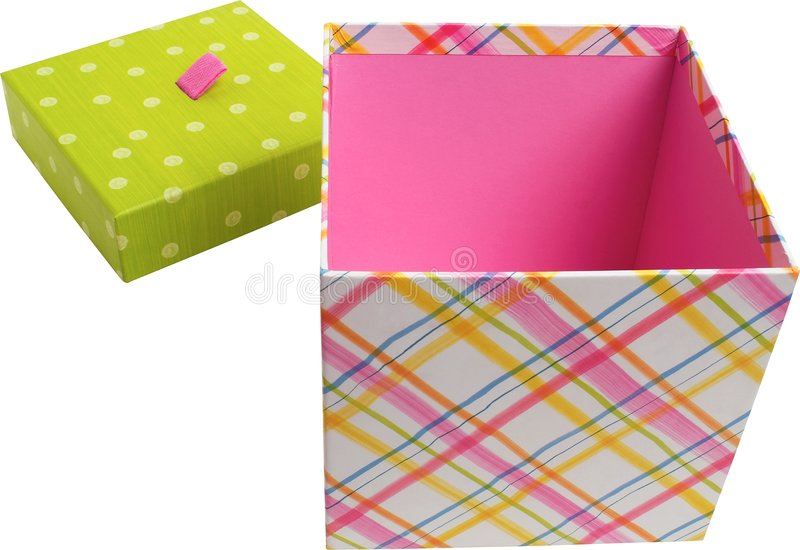 Positive box from a gift royalty free stock images