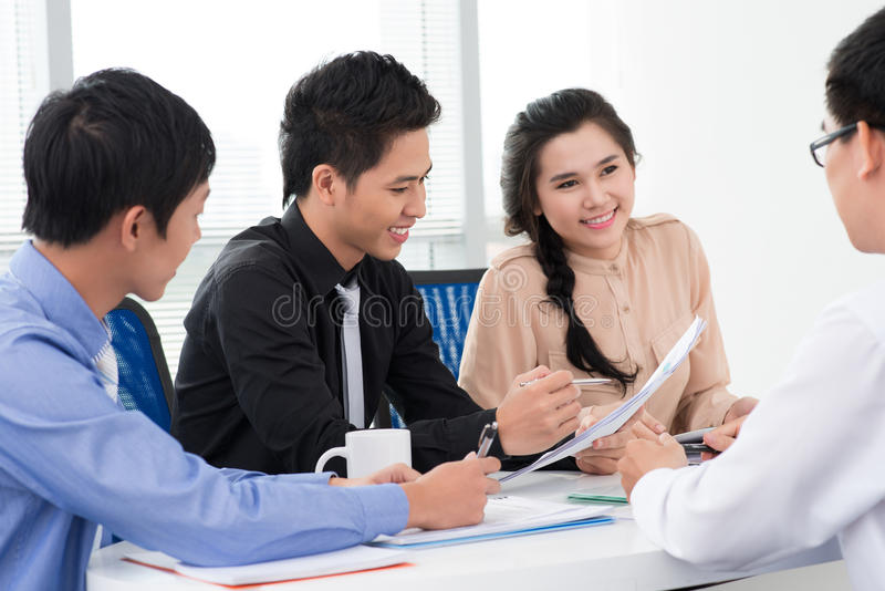 Download Positive business stock image. Image of planning, meeting - 28183775