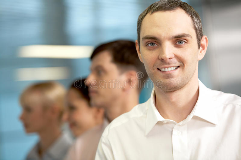 Positive businessman royalty free stock photos