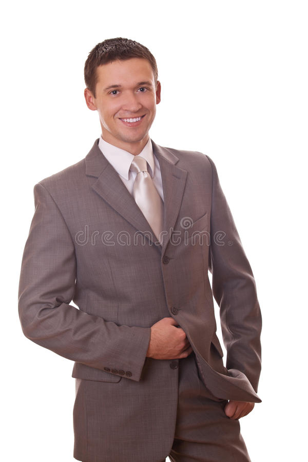Download Positive businessman stock photo. Image of grey, bright - 28674628