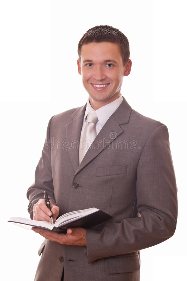 Download Positive Businessman With Notepad Stock Image - Image: 28674745
