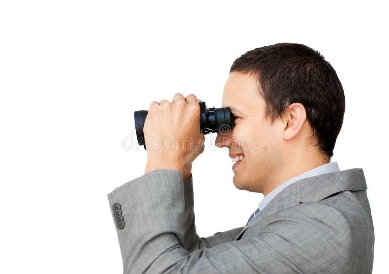 Positive Businessman Predicting Future Success Stock Images