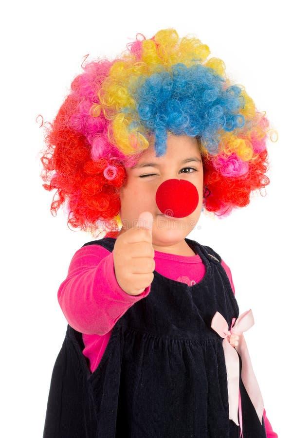 Positive clown stock image