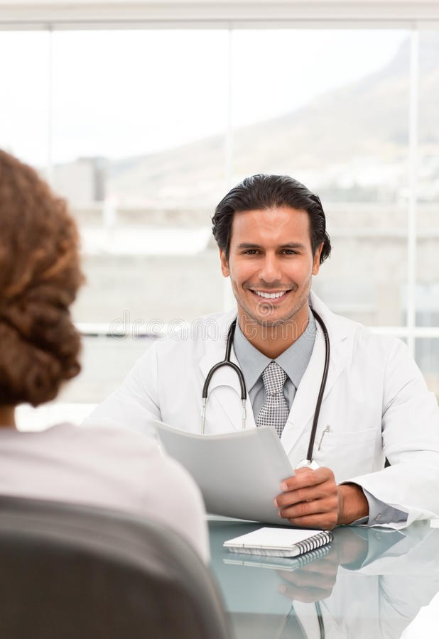 Positive doctor during an appointment