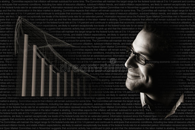 Positive economy outlook stock photo
