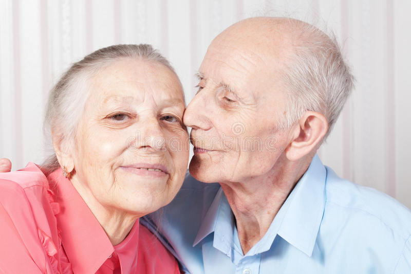 Positive elderly couple happy royalty free stock images