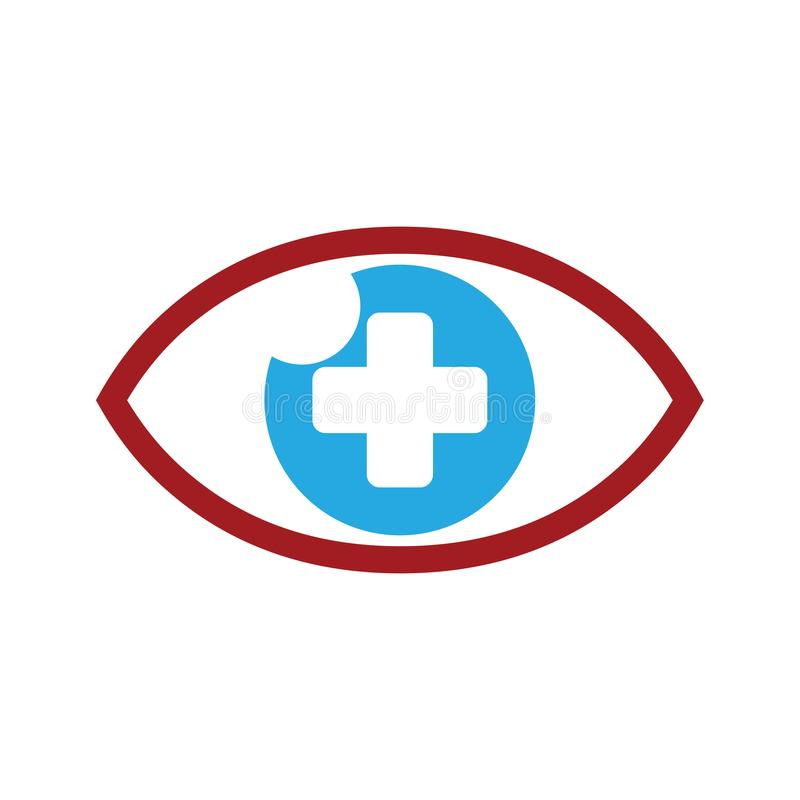 Positive Eyecare Healthy Eye Clinic Logo Icon Template royalty free illustration