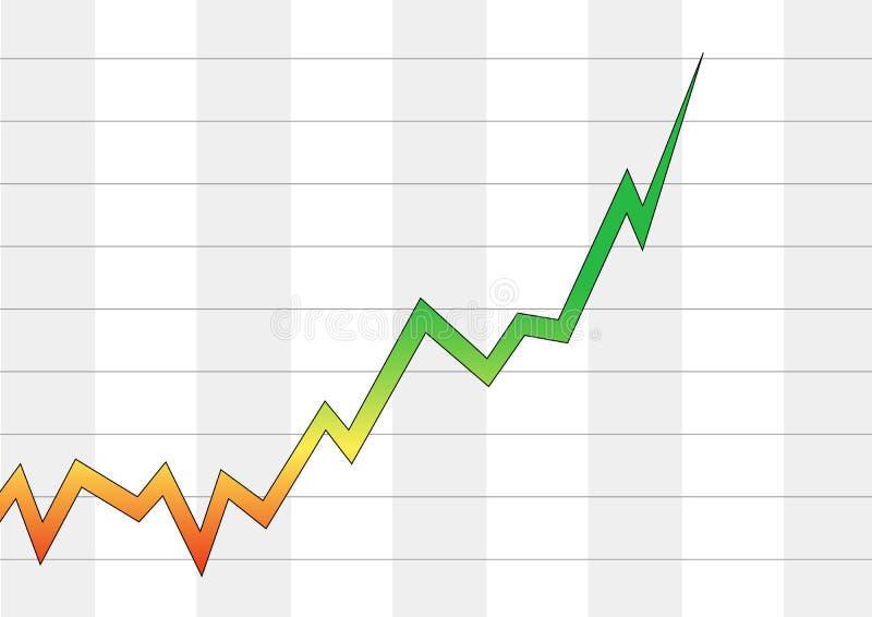 positive för affärsdiagram vektor illustrationer