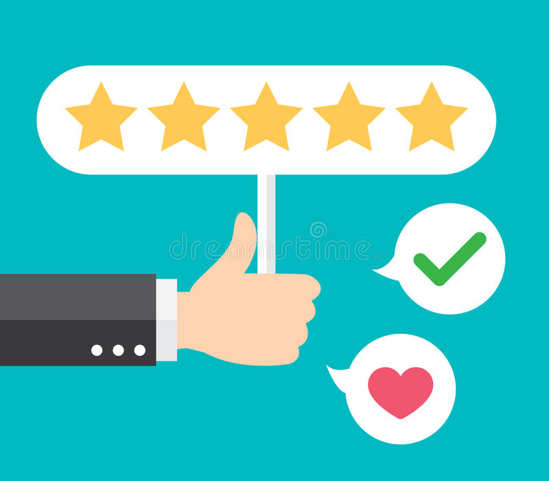 Positive Feedback Stock Vector. Illustration Of Rating