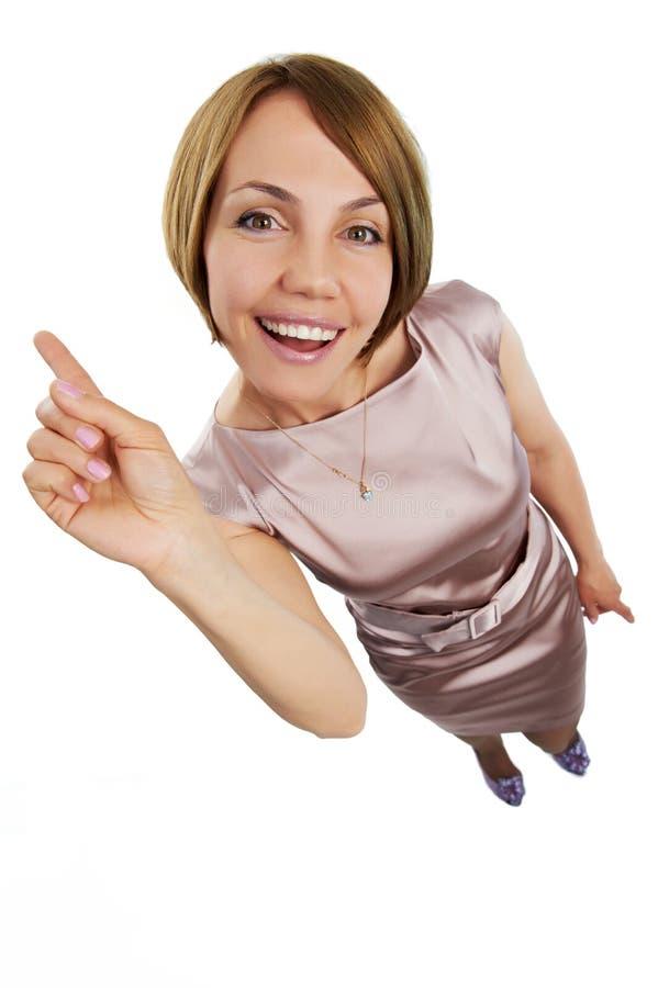Positive Frau lizenzfreie stockfotografie