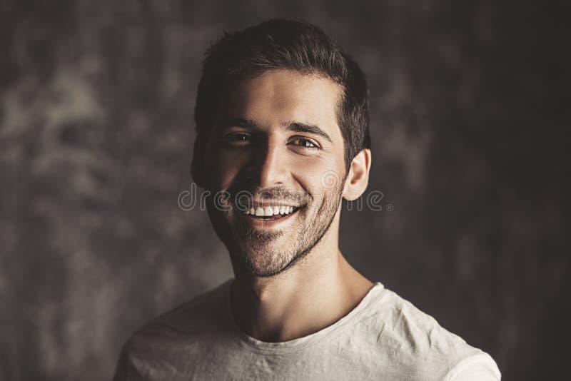 Positive friendly man stock image