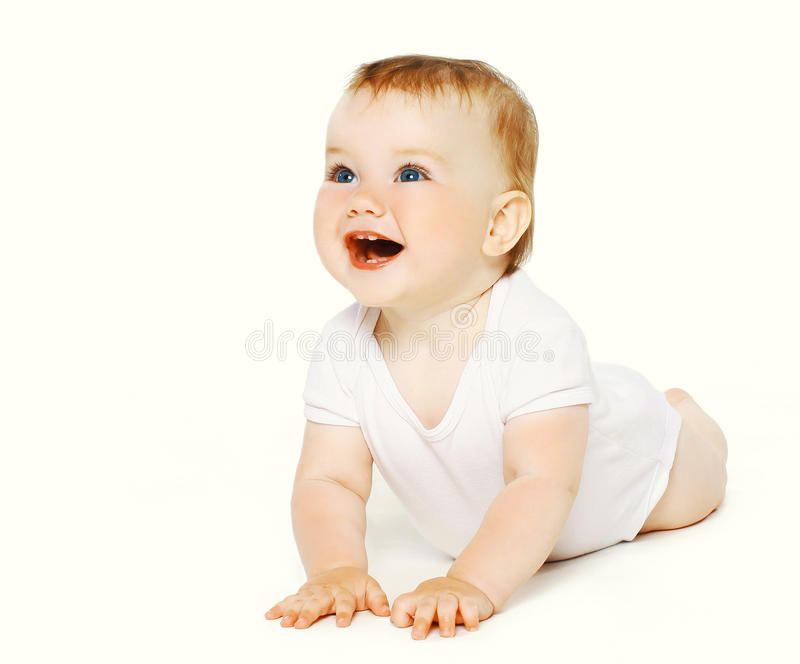 Positive funny baby royalty free stock images