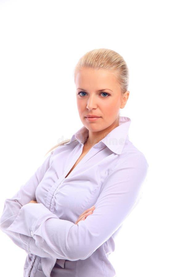 Positive Geschäftsfrau lizenzfreie stockfotos