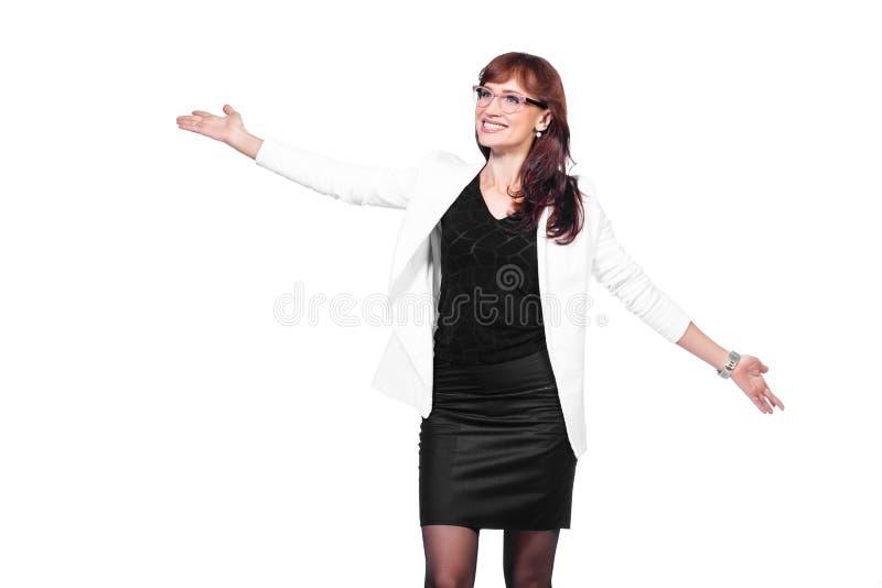 Positive Geschäftsfrau lizenzfreie stockfotografie