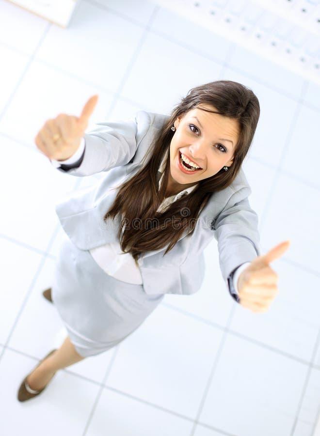 Positive Geschäftsfrau stockbilder