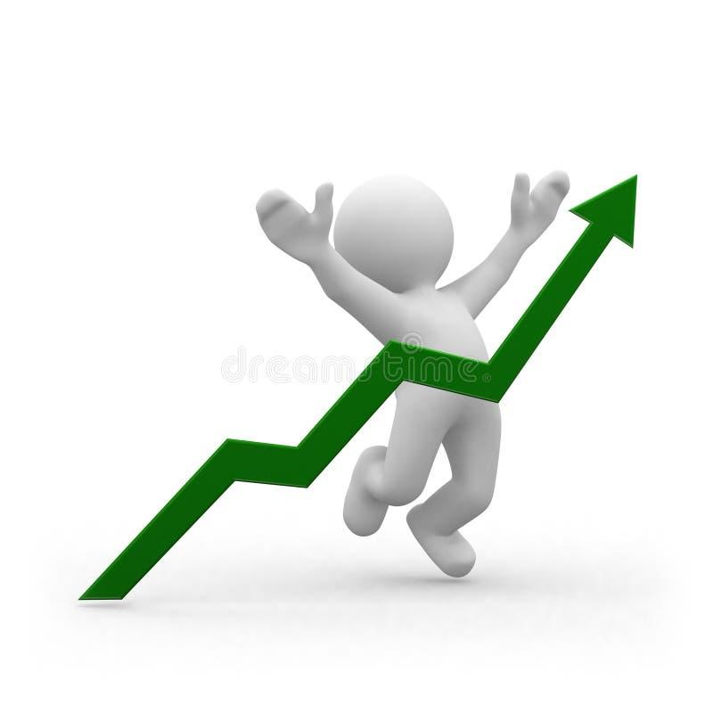 Positive graph vector illustration