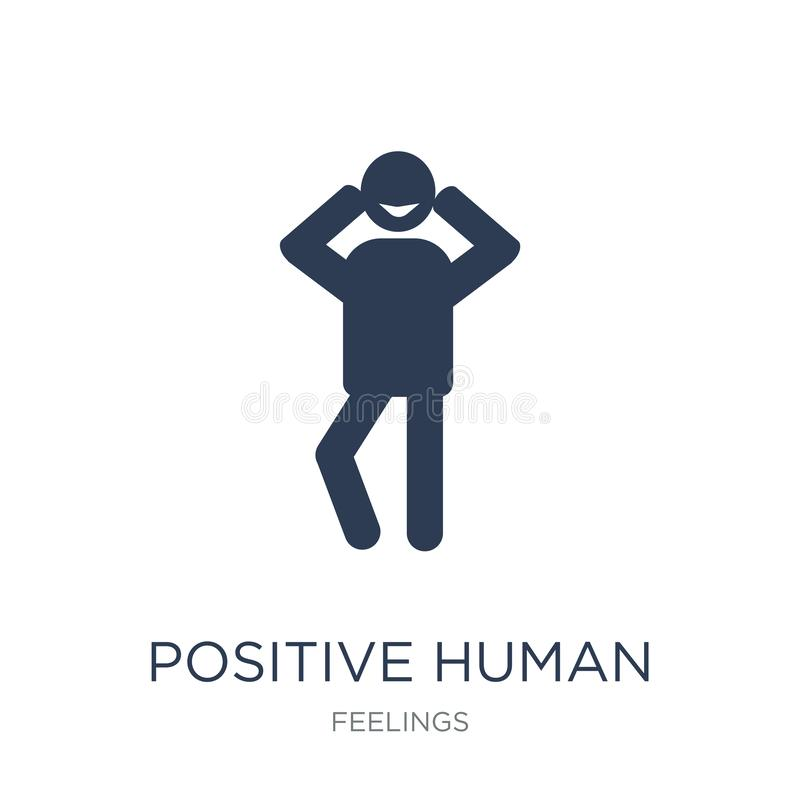 Positive human icon. Trendy flat vector positive human icon on w. Hite background from Feelings collection, vector illustration can be use for web and mobile vector illustration