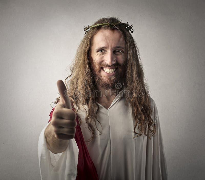 Positive Jesus stock photo