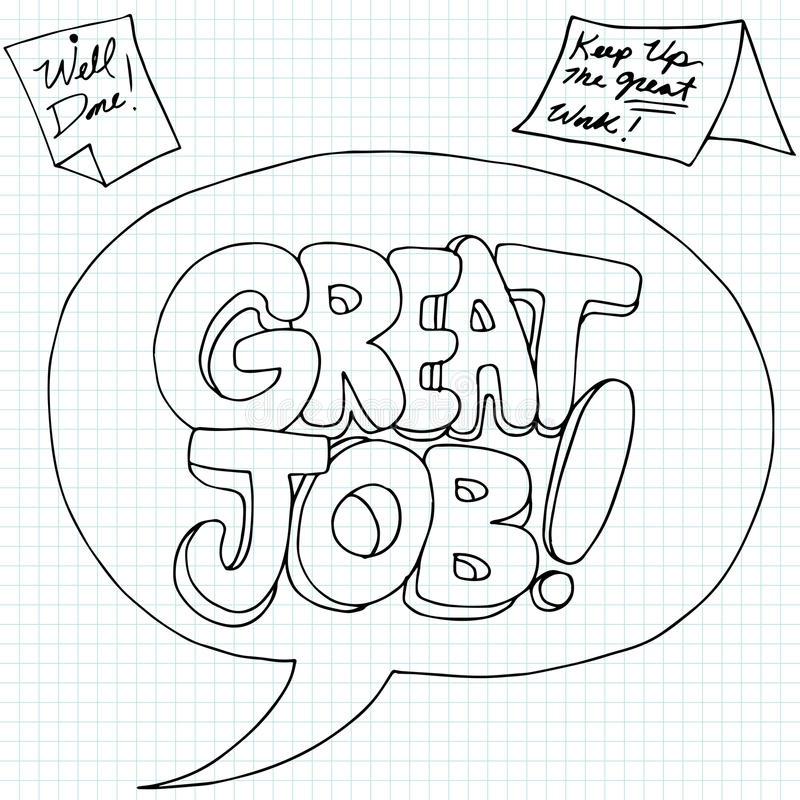 Positive Job Reinforcement Messages. An image of positive work performance messages royalty free illustration