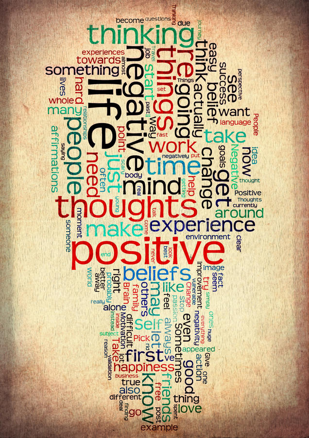 positive life word cloud vintage grunge stock photos