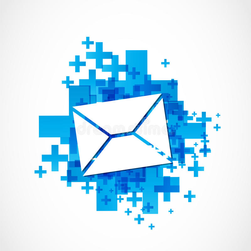 Positive mail sign vector illustration
