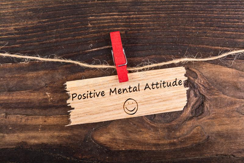 Positive mental attitude stock image
