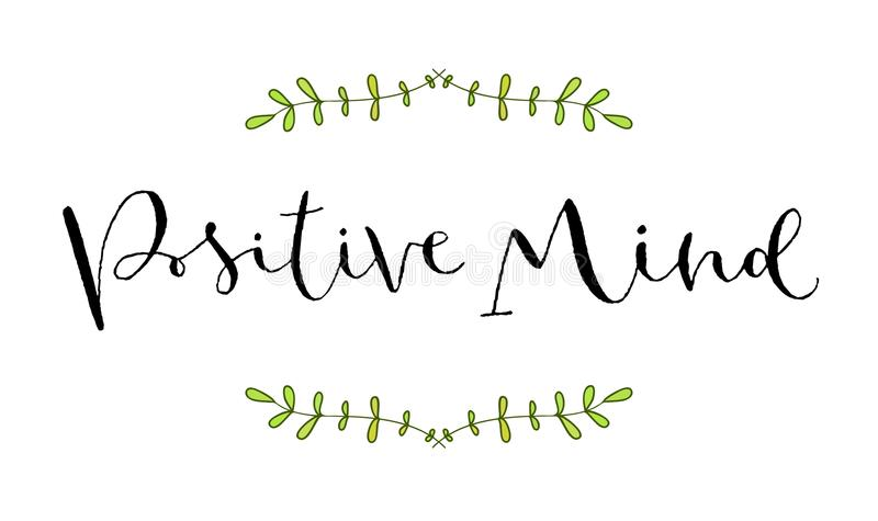 Positive Mind Handwritten Greeting Card Printable Quote Template - Greeting card print template