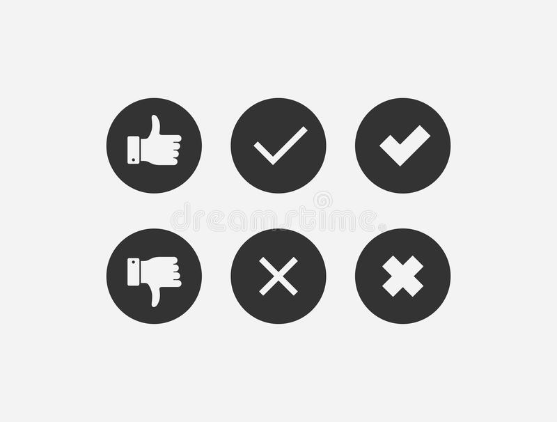 Positive and negative feedback collection royalty free stock images