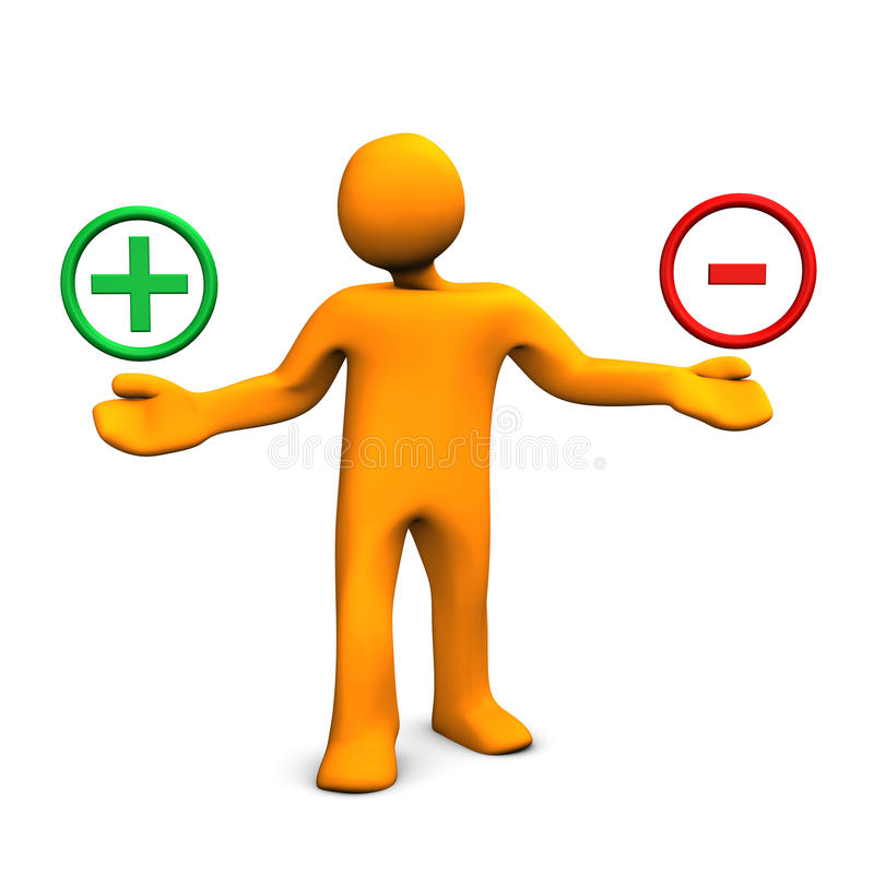 Download Positive And Negative Man Stock Photos - Image: 28798373