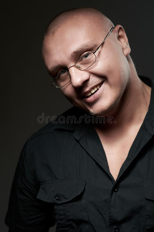 Download Positive Portrait Of Serious Man In Eyeglasses Stock Photo - Image: 17496186