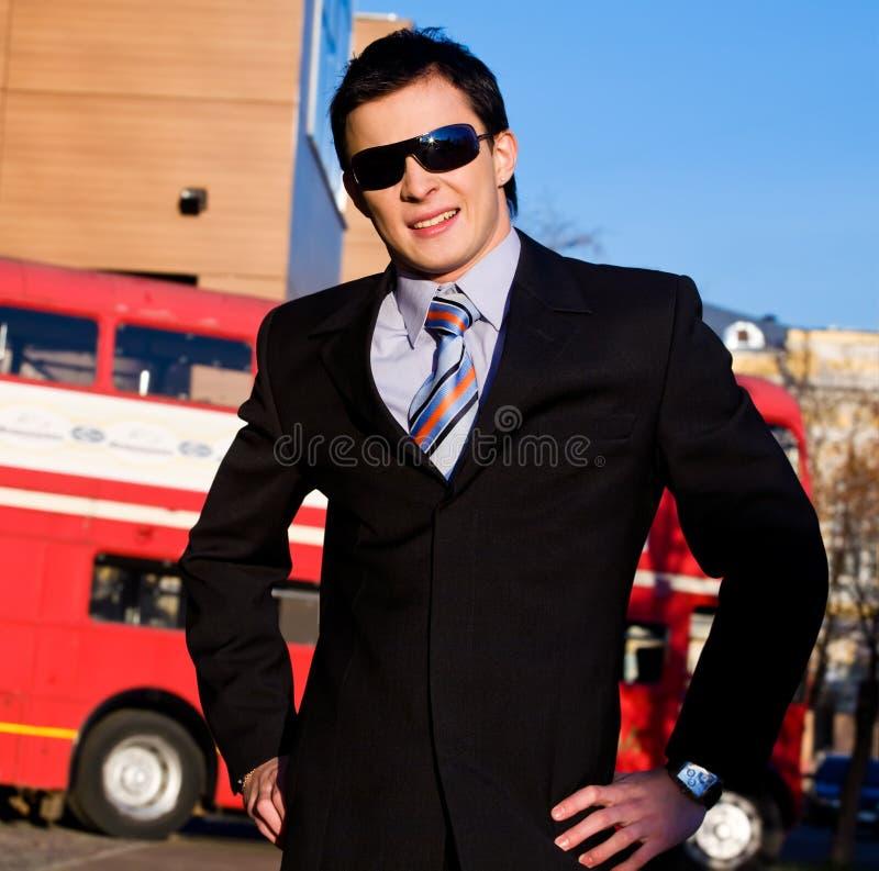 Positive Portrait Of Young Businessman Stock Images