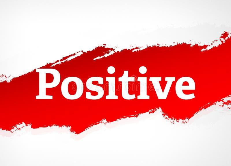 Positive rote Bürsten-Zusammenfassungs-Hintergrund-Illustration stock abbildung
