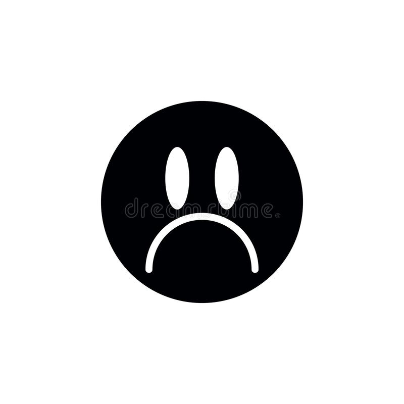 Positive, sadness icon. Simple glyph vector of universal set icons for UI and UX, website or mobile application. On white background stock illustration