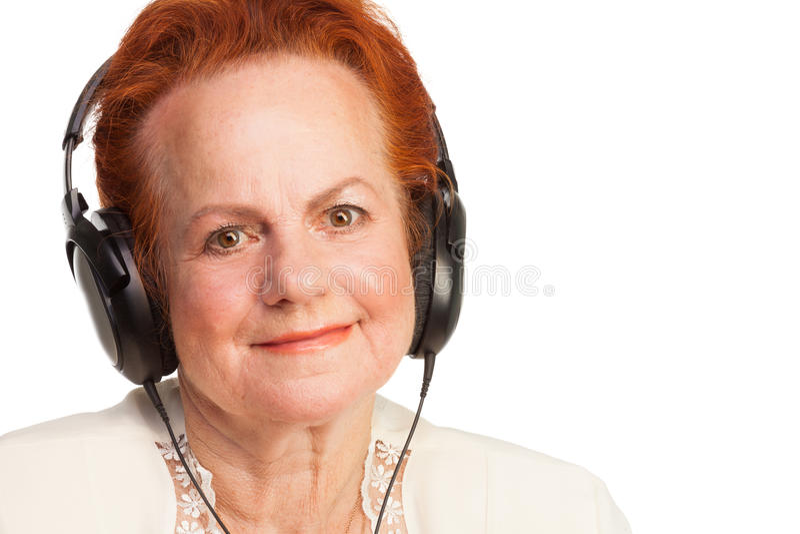 Download Positive Senior In Headphones Stock Image - Image: 27979669