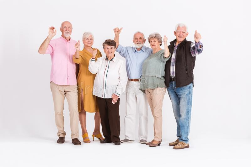 Positive senior people stock photo