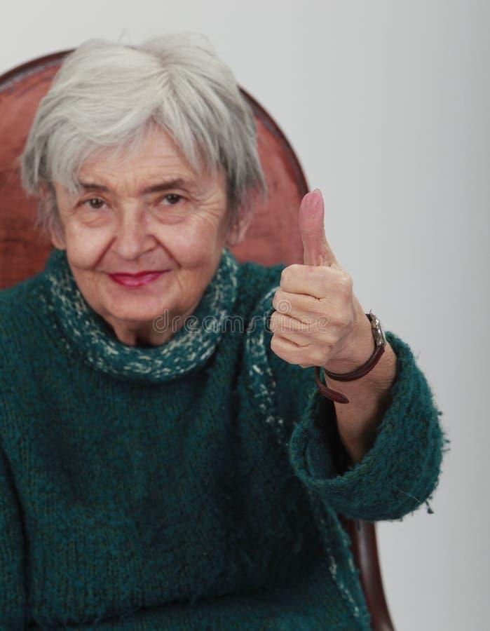 Positive Senior Woman Stock Photos