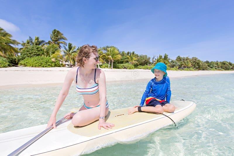 Family at vacation stock photo