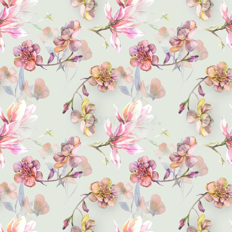 Positive soft pattern. For textile royalty free illustration