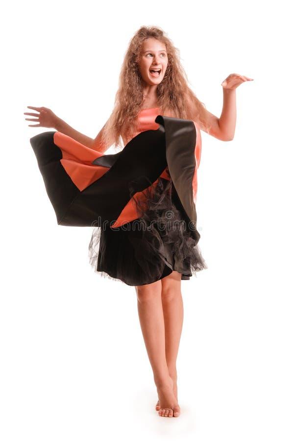 Download Positive teen girl stock image. Image of dress, girl - 32774145