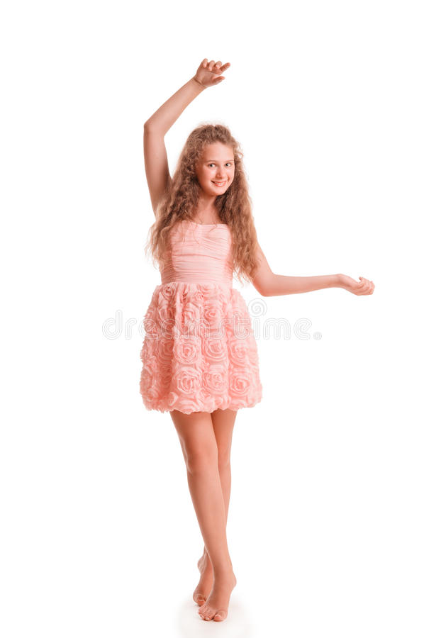 Download Positive teen girl stock photo. Image of laughs, dress - 31550878