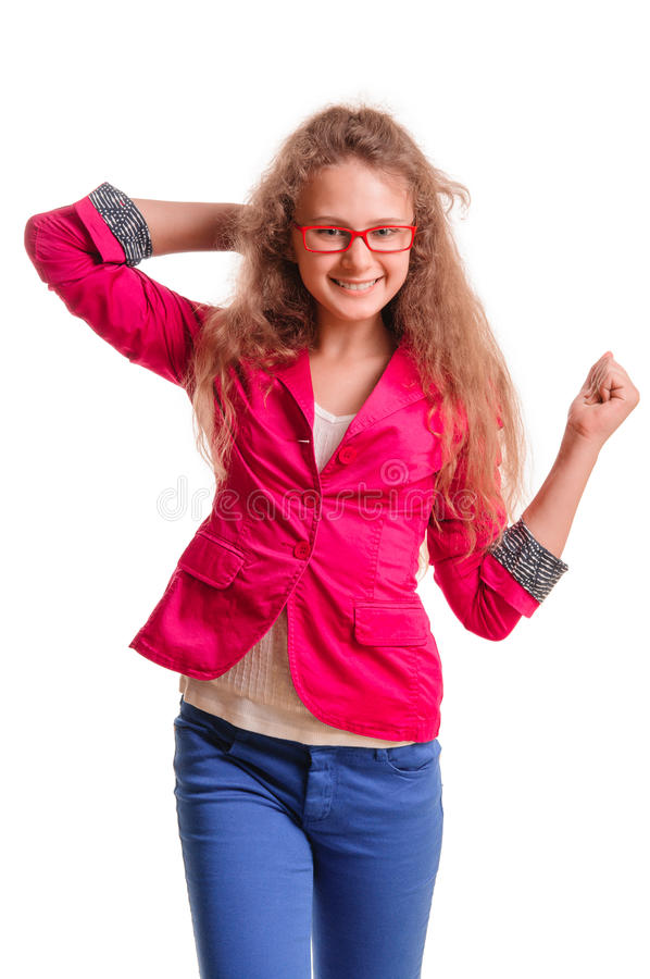 Download Positive teen girl stock image. Image of joyful, isolated - 31384083