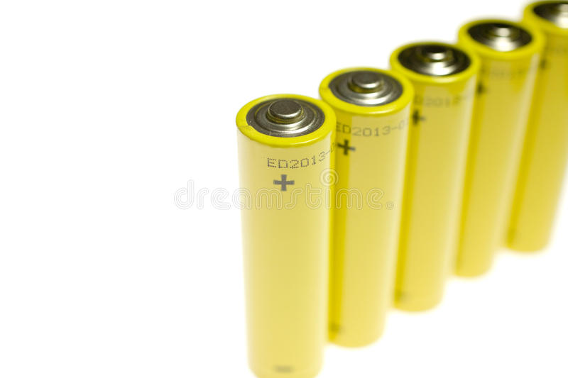 Positive Terminal On Battery royalty free stock images