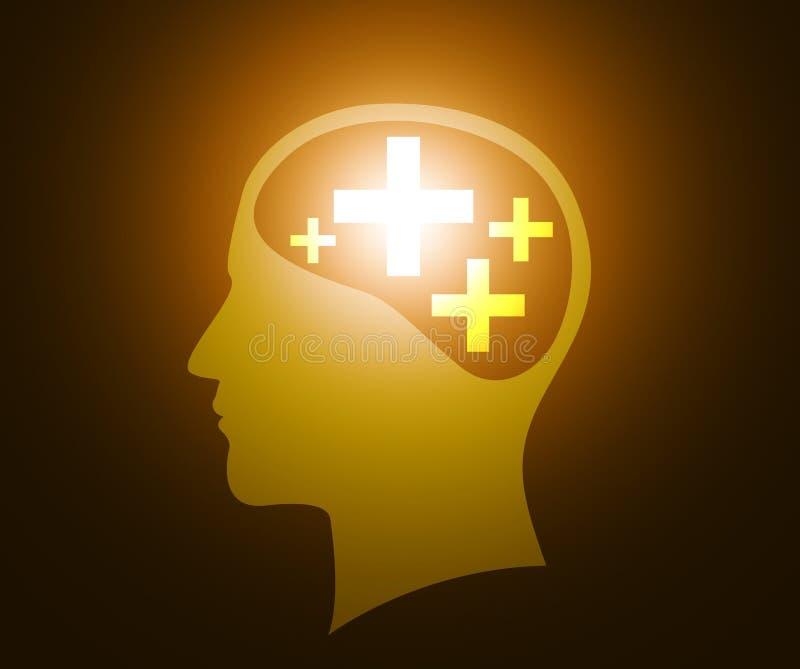 Positive thinking stock illustration