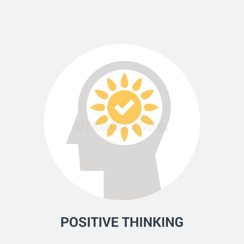 Positive thinking icon concept royalty free illustration