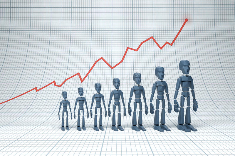 Download Positive trend stock illustration. Image of improvement - 33211780