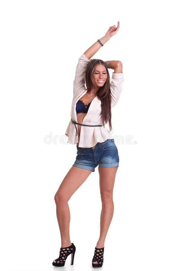 Download Positive Woman In Shorts Stock Photography - Image: 22940472