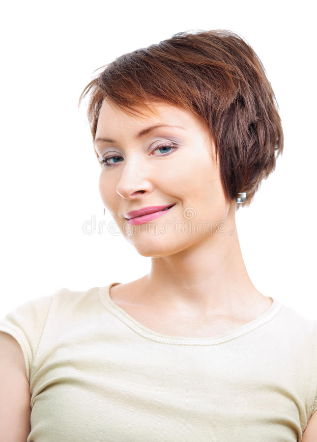 Positive young woman royalty free stock photography