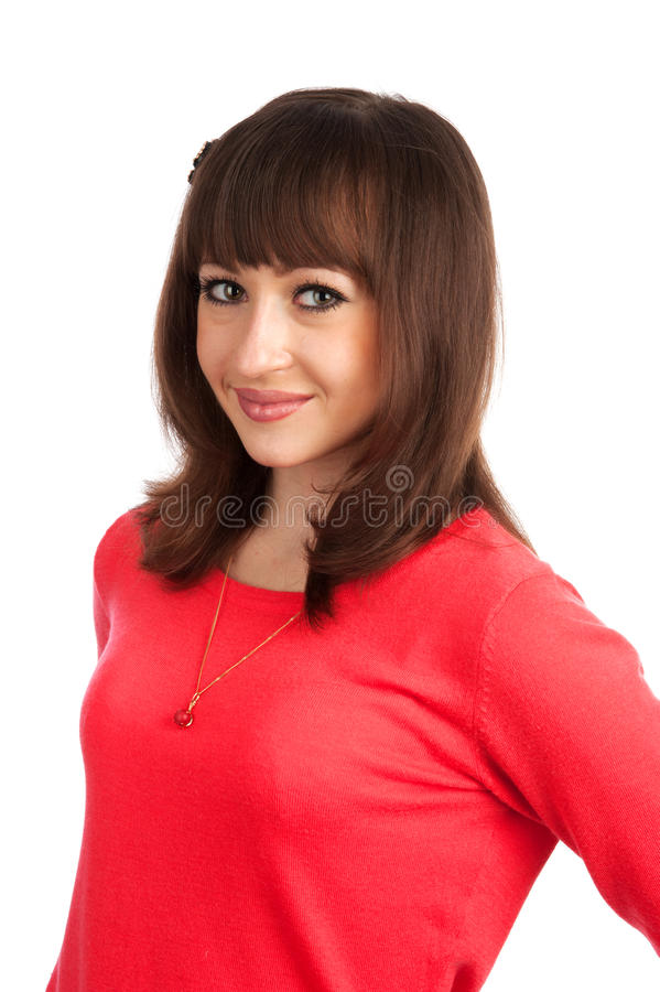 Positive Young Woman Smiling Stock Images