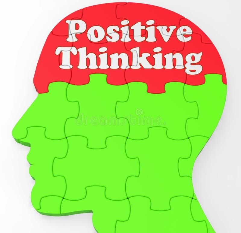 Positiver denkender Verstand zeigt Optimismus oder Glauben vektor abbildung