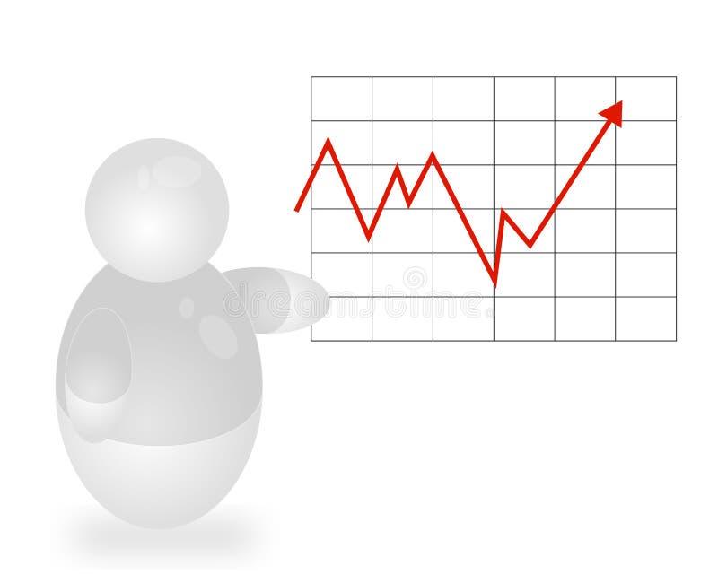 Positiver Schwerpunkt-Report vektor abbildung